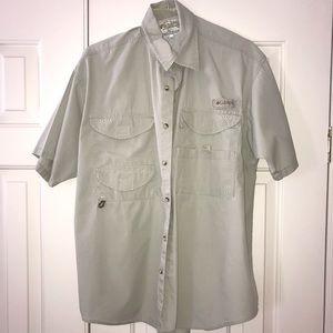 EUC Columbia PFG Shorts Sleeve Shirt Size M.
